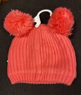 GIRLS EX STORE CORAL POMPOM HAT