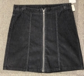 GIRLS EX STORE BABY CORD ZIP SKIRT