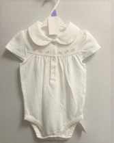 BABIES EX STORE WHITE EMBROIDERED ROMPER