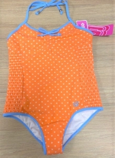 GIRLS SKETCHERS ORANGE STAR ONE PIECE